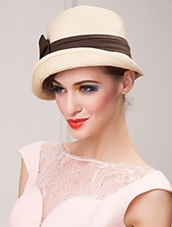 Women Basketwork Hats With Wedding/Party Headpiece(More Colors)