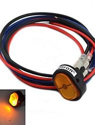 jtron interruptor on-off diy levou com luz amarela - preto + amarelo (12v / 30a)