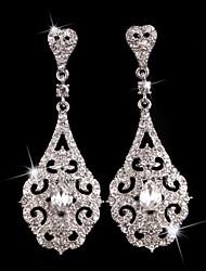 Pendiente Pendientes Gota Plata/Perla/Aleación Cristal De mujeres