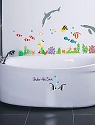 Wall Stickers Wall Decals, Style The Cartoon World Of The Sea PVC Wall Stickers