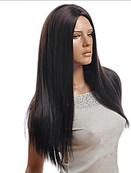 Natural Black Points in High Temperature Silk Long Straight Hair
