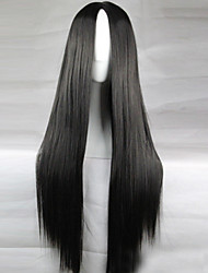 New Anime Cosplay Black Long Straight Hair Wig 80CM