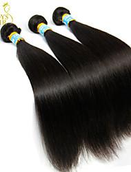 """3 pc lotto 8 """"-30"""" vergine peruviana dei capelli grezzo non lavorato rette nere peruviane del tessuto dei capelli / trama fasci umani naturali"""
