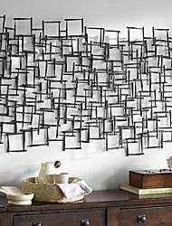 E-HOME® Metal Wall Art Wall Decor, Square Pattern Stitching Wall Decor One PCS