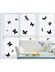 Wall Stickers Wall Decals, Style Black Butterfly PVC Wall Stickers