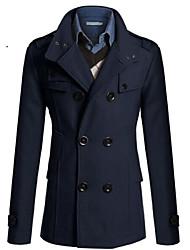 Allen Men's Fashion All Match Solid Color Coat