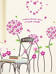 Wall Stickers Wall Decals, Style Alice Flower PVC Wall Stickers