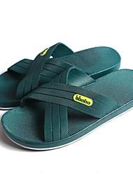 Herrenschuhe - Lässig - Pantoffeln - PVC - Blau / Grün / Grau