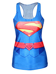 Superman Mini Tank Dress Night Club Uniform