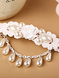 High Grade White Lace Pearl Flower Lovely Ladies Hairpin