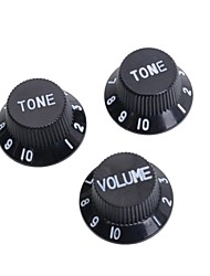 Black & White Guitar Speed Control Knobs for Strat Style Electric Guitar 50SET/LOT (1 Volume & 2 Tone A Set)
