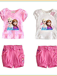 """Girl's Summer/Spring Stretchy Thin Dresses/Clothing Sets (Cotton)""""ICE QUEEN SET OF 2PCS"""""""
