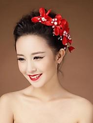 Women's / Flower Girl's Rhinestone / Crystal / Imitation Pearl Headpiece-Wedding Flowers