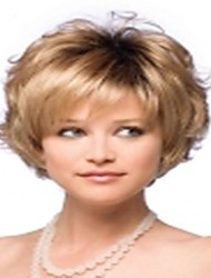 Top Quality Fashion Short Curly Blonde Wig Woman's Synthetic Wigs Hair