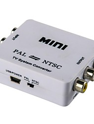 Mini ntsc-pal al convertidor sistema tv