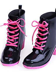 Women's Shoes Rubber Chunky Heel Platform/Rain Boots/Round Toe Boots Casual More colors available