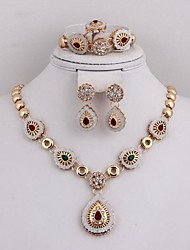 Jewelry-Necklaces / Earrings / Rings / Bracelets & Bangles(Alloy / Zircon / Rhinestone)Party / Daily Wedding Gifts
