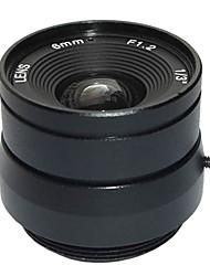 "F1.2 1/3"" Fixed Iris IR Lens 4mm Closed-circuit Television CCTV Lens for Security Surveillance CCTV Video Camera"
