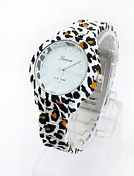 - Analog - Leopard - Armbanduhr - für Damen