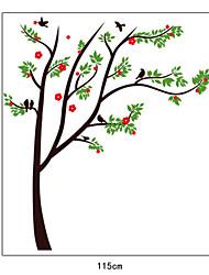 vibrantes árvores naturais de parede pvc adesivos