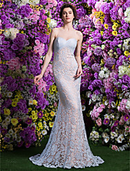 Homecoming TS Couture Prom / Formal Evening Dress - Sky Blue Trumpet/Mermaid Jewel Court Train Lace
