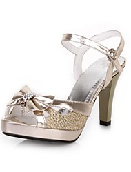Women's Shoes  Chunky Heel Peep Toe/Platform Sandals Office & Career/Dress Silver/Gold