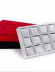 12-grilles petits pains la forme d'oreiller bracelet / regarder les boîtes de rangement de bijoux plateau femmes