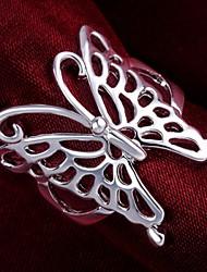 Ringe Hochzeit / Party / Alltag / Normal Schmuck Sterling Silber Damen Statementringe 1 Stück,7 / 8 Silber