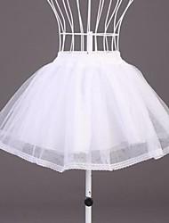 Unterhosen A-Linie Kurz Polyester Organza Weiß Schwarz