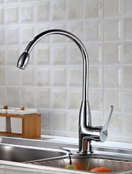 Delta Deck Mounted Single Handle One Hole with Brushed Kitchen faucet