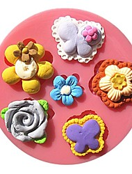 Pearl Flowers Collection Fondant Cake Molds Chocolate Mould For The Kitchen Baking