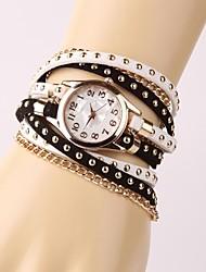Armband-Uhr - Leder - Quartz - für Damen/Kinder