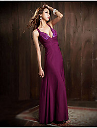WEILL   Women's Solid Color Purple Dresses , Sexy / Bodycon / Party Straps Sleeveless
