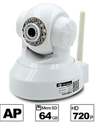 besteye® hd1280 * 720p H.264 caméra wifi ip 1.0m ptz vision de nuit filaire ir / wireless card 64gb tf