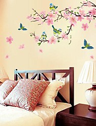 Botanical Romance Still Life Fashion Florals Fantasy Wall Stickers Plane Wall Stickers Decorative Wall Stickers Wedding Stickers,Paper