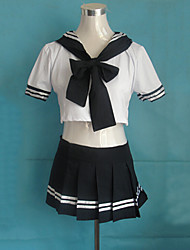 Sweet College Girl Navy Blue School Uniform