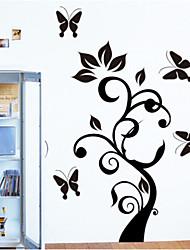 sticker mural PVC en rotin amovible environnement