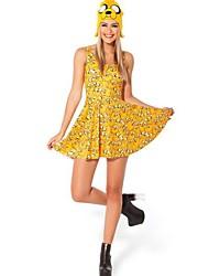 Mini - Vestido - Casual/Impresión - Licra
