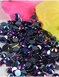 2000Pcs 3MM Black Rhinestone Nail Art Decoration