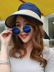 Sunscreen Folding Bow Straw Empty Top Hat