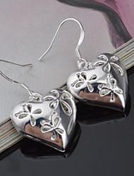 Women's Titanium Heart shape Drop Earrings