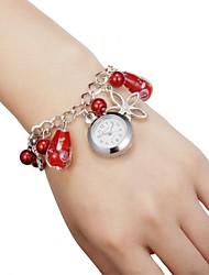 Cuarzo - para Mujeres - Analógico - Copo - Llavero Reloj -
