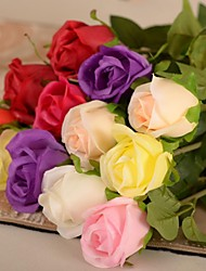 """24 """"l ensemble de 1 roses romantiques soie fleurs en tissu"""