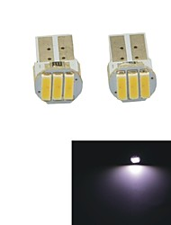 Carking™ T10-7014-3SMD Car Door / Tail Lamps-(2PCS)White Light