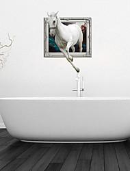 Adesivos de parede adesivos de parede 3d, Whitehorse banheiro decoração da parede mural pvc adesivos