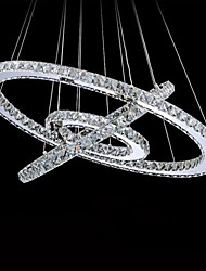 LED Crystal Chandelier Lighting Lights Transparent Crystal Round 3 Rings 40CM Plus 50CM Plus 60CM Lamps Fixtures