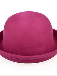 Women Vintage Wool Bowler/Cloche Hat