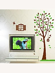 Wall Stickers Wall Decals, Style Green Tree PVC Wall Stickers