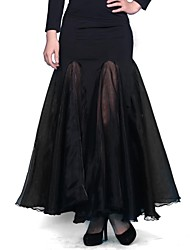Ballroom Dance Skirts Women's Performance / Training Chinlon Natural M:85-87 L:85-87