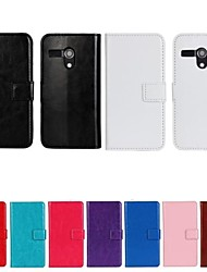 Solid Color PU Leather Full Body Protective Cover with Stand for Motorola MOTO G(Assorted Color)